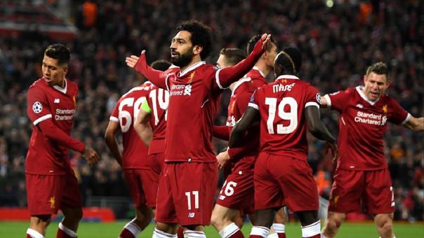 Mohamed Salah usa el dorsal '11' en el Liverpool.