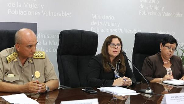 Ministra de la Mujer, Ana María Mendieta.