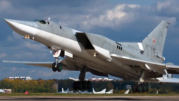 Un cazabombardero Túpolev Tu-22M de fabricación rusa.