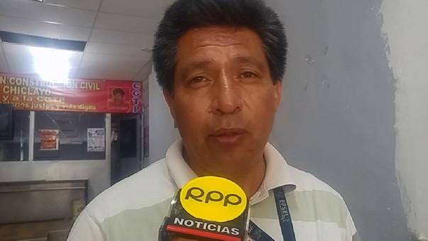 Sandro Olivos, secretario del Sindicato de Trabajadores de EPSEL