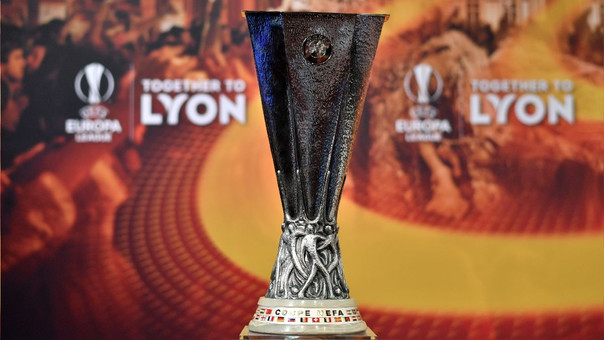 El trofeo de la Europa League. La final será disputada en Lyon.