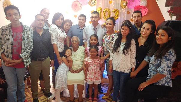 Anciana más longeva de Chiclayo