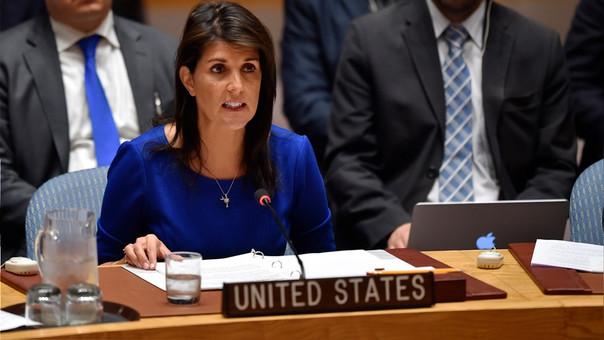 Nikki Haley representa al Gobierno de Donald Trump ante la ONU.
