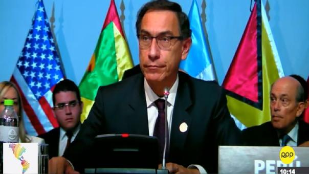 Presidente Martín Vizcarra inaugura Cumbre de las Américas: Hay que incrementar la transparencia en las obras públicas.