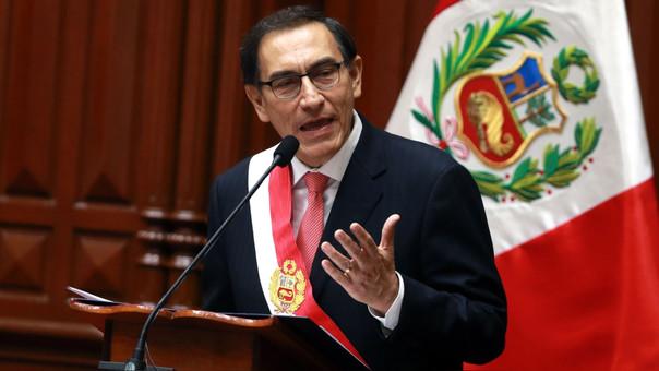 El presidente de la República, Martín Vizcarra.