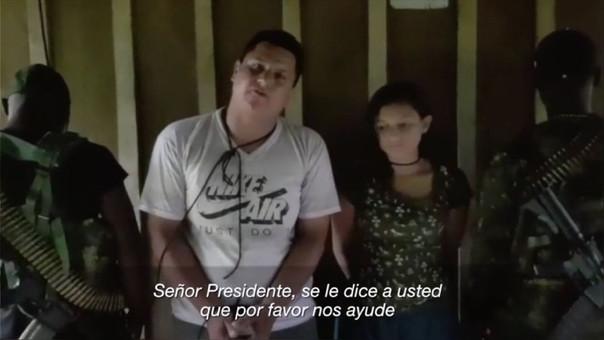 EL Gobierno ecuatoriano difundió el video enviado por los captores de la pareja.