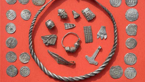 Parte del tesoro hallado en Alemania.