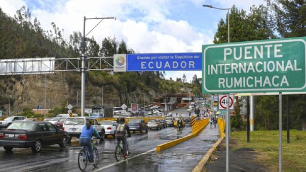 Frontera de Ecuador y Colombia.