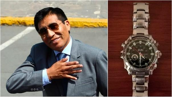 Mamani entregó el reloj y sus accesorios al Ministerio Público.
