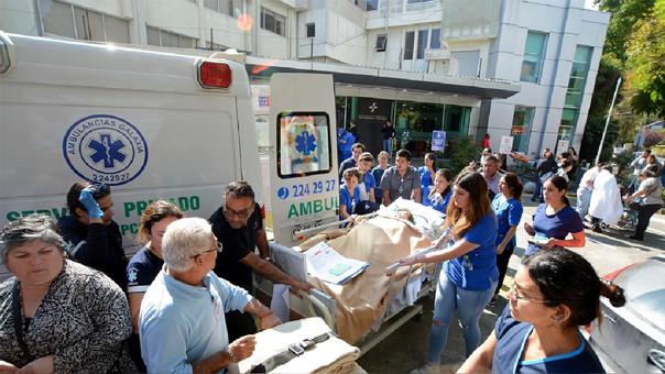 Traslado de heridos a diversos centros de salud de Chile.