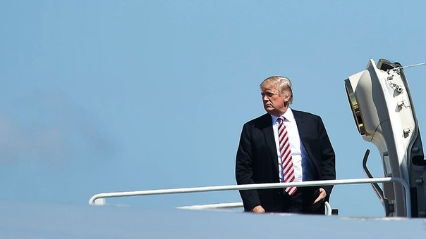Donald Trump hizo clara su posición de que no cree que el hombre causa el calentamiento global.