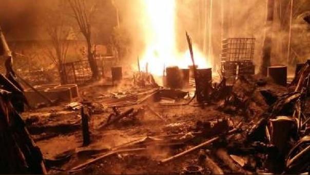 Incendio en Indonesia