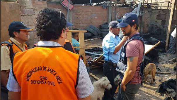 Defensa Civil realizó la evaluación de los daños materiales.
