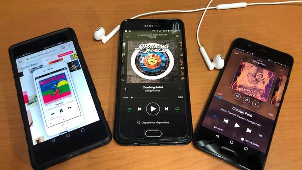 Spotify, Apple Music y Play Music son algunos de los servicios por streaming con mayor acogida en Perú.