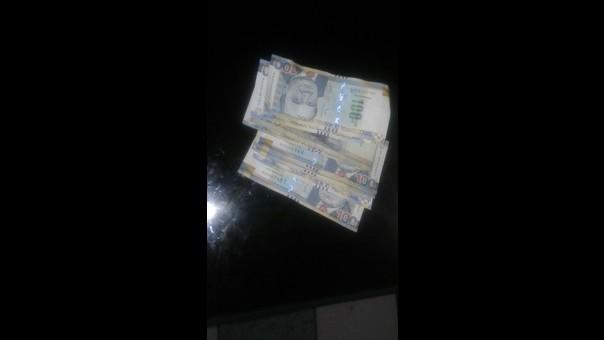 El dinero entregado a la Policía.