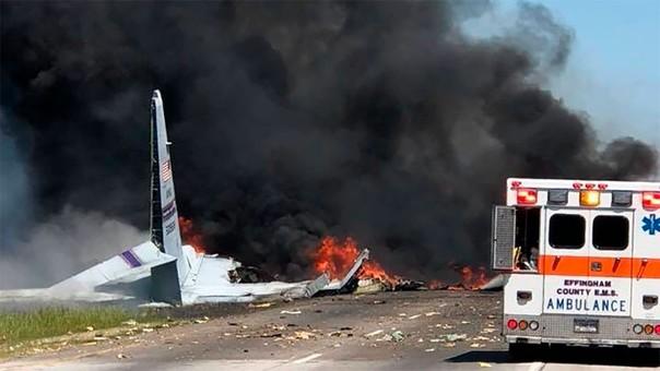 Avión militar de EE.UU. se estrella cerca de aeropuerto en Georgia