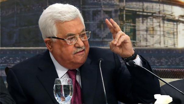 Abbas durante la 23 sesión del Consejo Nacional Palestino en Ramal, el pasado 30 de abril.
