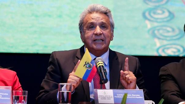 Lenín dio las polémicas declaraciones durante la Cumbre Mundial Hambre Cero en Cuenca.
