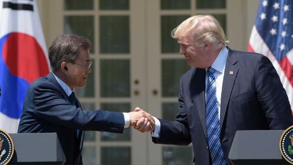 Donald Trump y Moon Jae-in