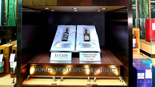 Las botellas fueron compradas de la tienda Le Clos.