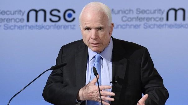 John McCain en un acto público en febrero del año pasado.
