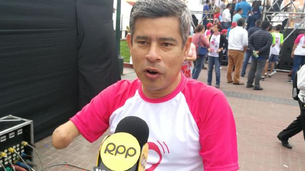 Luis Galarreta participó en la Marcha por la Vida este sábado.