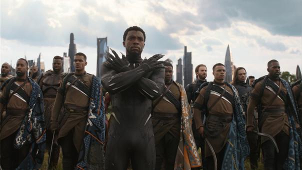 Black Panther/T'Challa (Chadwick Boseman) es uno de los protagonistas de