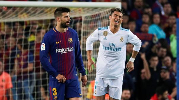Cristiano Ronaldo se lesionó tras una falta de Gerard Piqué.