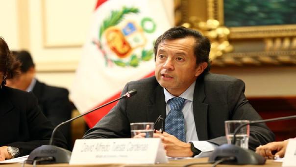 Se presenta el Ministro de Economía, David Tuesta, para sustentar los alcances del D.U. 005-2018, que establece medidas de eficiencia del gasto público para el impulso económico.