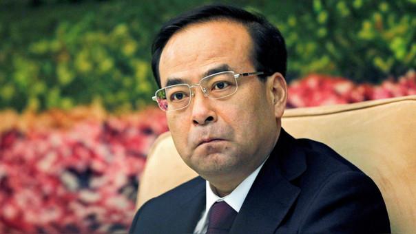 Sun Zhengcai, entonces jefe del Partido Comunista en la provincia de Jilin, durante una reunión en el Gran Palacio de Pekín.