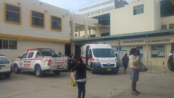 Hombre fue conducido al hospital