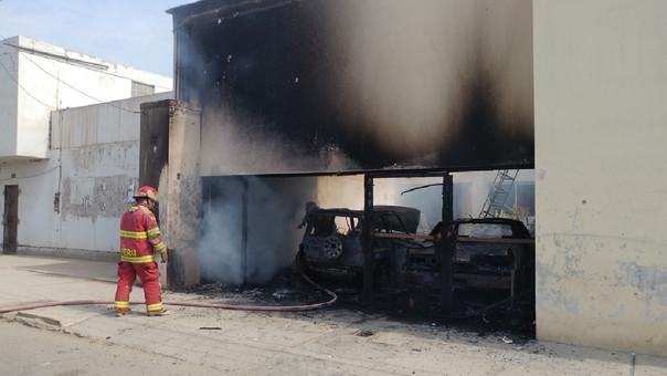 Incendio en vivienda de Chiclayo