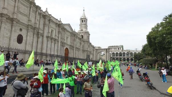 Protesta en Arequipa