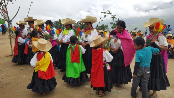 Homenaje a la mamá de la zona andina