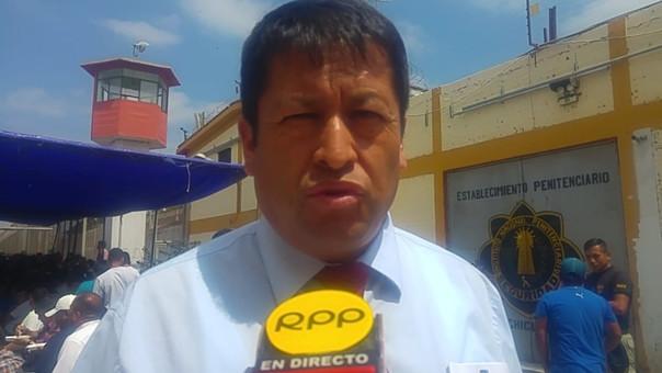 Director del penal, Emigdio Cutimbo