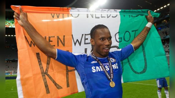 Didier Drogba ganó la Champions League en 2012 con el Chelsea.