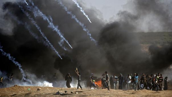 Enfrentamientos en Gaza.