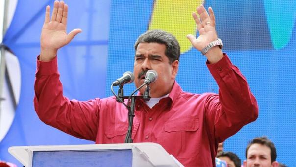 Maduro durante un acto proselitista este lunes.