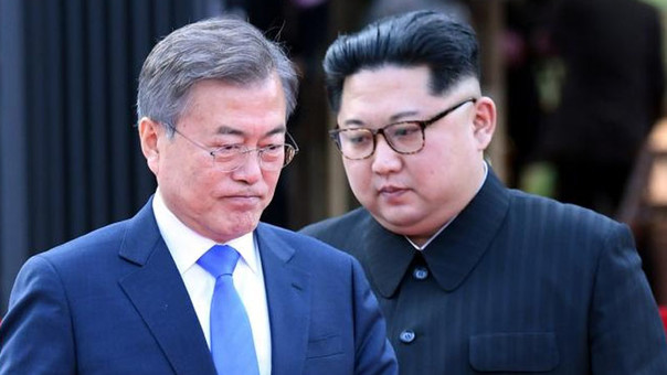 Moon Jae-in, Kim Jong-un