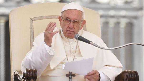 El papa Francisco durante su audiencia semanal en la plaza San Pedro.