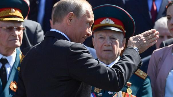 Putin en un reciente desfile militar ruso.
