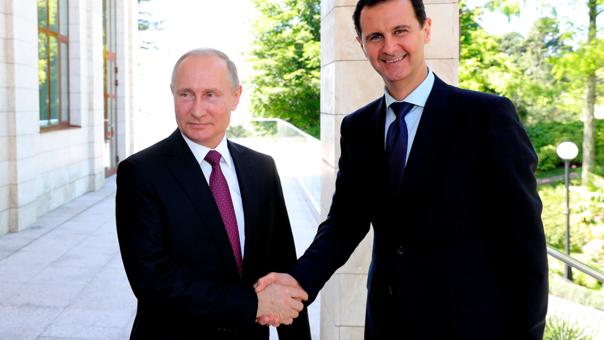 Putin recibe a Asad y pide salida de tropas extranjeras de Siria