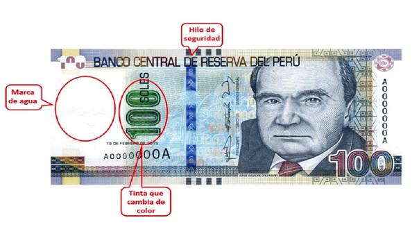 Extraer elementos de seguridad de los billetes es un delito.