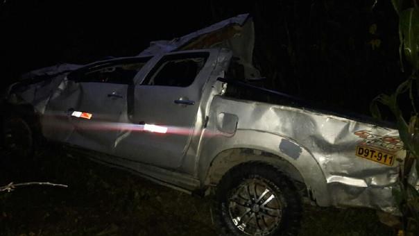 Cuatro menores graves tras caída de camioneta a abismo en Huamachuco