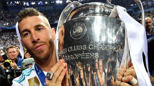 Sergio Ramos levantó su cuarta Champions League con el Real Madrid.