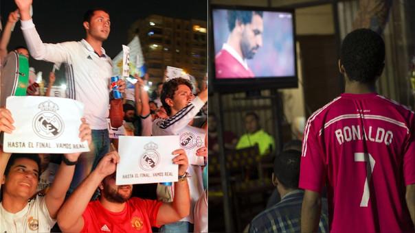 Hinchas del Real Madrid en Egipto celebraron la victoria del equipo español, pero lamentaron la lesión de Salah.