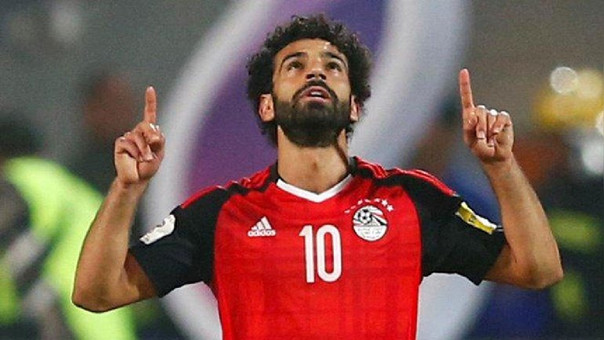 Mohamed Salah anotó el último gol de Egipto que le permitió clasificar al Mundial Rusia 2018.