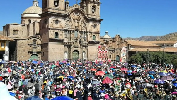 Simulacro de sismo en Cusco