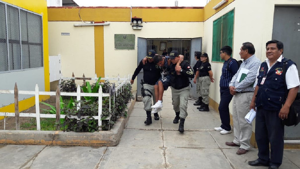 Simulacro en el penal de Chiclayo