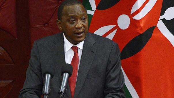 Kenyatta gobierna su país desde el 2013.